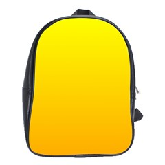 Yellow To Chrome Yellow Gradient School Bag (xl)