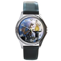 Dragon Land 2 Round Metal Watch (silver Rim)