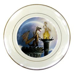 Dragon Land 2 Porcelain Display Plate by gatterwe