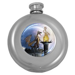 Dragon Land 2 Hip Flask (round) by gatterwe