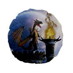 Dragon Land 2 15  Premium Round Cushion