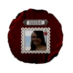 Bride and Groom 2-Sided Round Cushion - Standard 15  Premium Round Cushion
