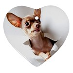 Chihuahua Heart Ornament