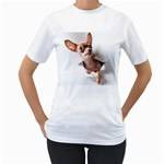 Chihuahua Womens  T-shirt (White)