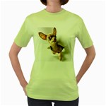 Chihuahua Womens  T-shirt (Green)