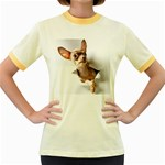 Chihuahua Womens  Ringer T-shirt (Colored)