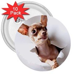 Chihuahua 3  Button (10 pack) by cutepetshop