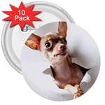 Chihuahua 3  Button (10 pack)
