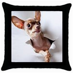 Chihuahua Black Throw Pillow Case
