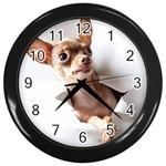 Chihuahua Wall Clock (Black)