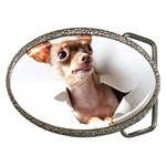 Chihuahua Belt Buckle (Oval)