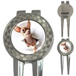 Chihuahua Golf Pitchfork & Ball Marker