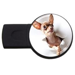 Chihuahua 4gb Usb Flash Drive (round) by cutepetshop