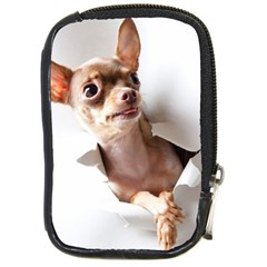 Chihuahua Compact Camera Leather Case by cutepetshop