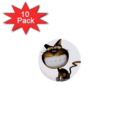 Funny Cat 1  Mini Button (10 Pack) by cutepetshop