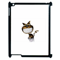 Funny Cat Apple Ipad 2 Case (black) by cutepetshop