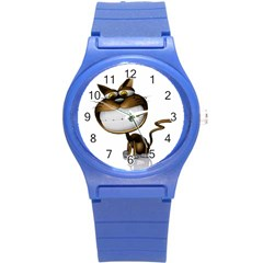 Funny Cat Plastic Sport Watch (small) by cutepetshop