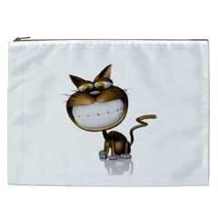 Funny Cat Cosmetic Bag (xxl)