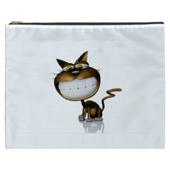 Funny Cat Cosmetic Bag (XXXL) by cutepetshop