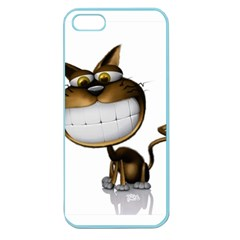 Funny Cat Apple Seamless Iphone 5 Case (color) by cutepetshop