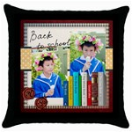 graduation, school life - Throw Pillow Case (Black)