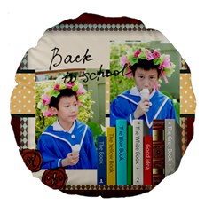 Graduation, School Life By School   Large 18  Premium Round Cushion    112eyw9cng73   Www Artscow Com Back