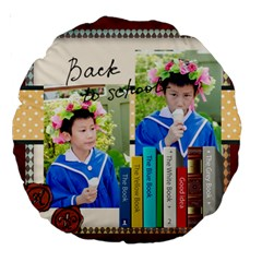 Graduation, School Life By School   Large 18  Premium Round Cushion    Z6d3azsa5rgx   Www Artscow Com Front