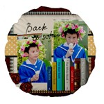 graduation, school life - Large 18  Premium Round Cushion