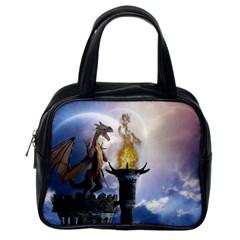 Dragon Land 2 Classic Handbag (one Side)