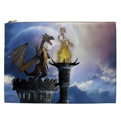 Dragon Land 2 Cosmetic Bag (xxl) by gatterwe