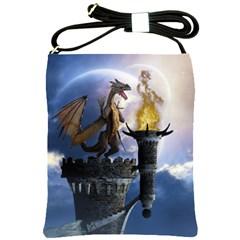 Dragon Land 2 Shoulder Sling Bag by gatterwe