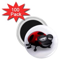 Lady Bird 1 75  Button Magnet (100 Pack) by cutepetshop
