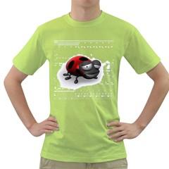 Lady Bird Mens  T Shirt (green)
