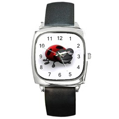 Lady Bird Square Leather Watch