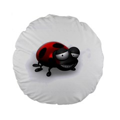 Lady Bird 15  Premium Round Cushion  by cutepetshop
