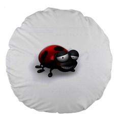 Lady Bird 18  Premium Round Cushion  by cutepetshop