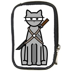 Ninja Cat Compact Camera Leather Case by cutepetshop