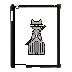 Ninja Cat Apple Ipad 3/4 Case (black) by cutepetshop