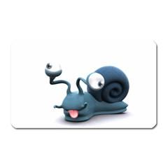 Funny Snail Magnet (rectangular)