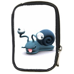 Funny Snail Compact Camera Leather Case by cutepetshop