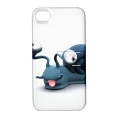 Funny Snail Apple Iphone 4/4s Hardshell Case With Stand