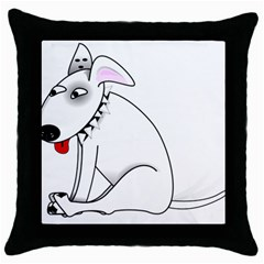 Pitbull Black Throw Pillow Case by cutepetshop