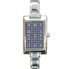 Cool Gray Weave Rectangular Italian Charm Watch by BestCustomGiftsForYou