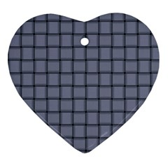 Cool Gray Weave Heart Ornament by BestCustomGiftsForYou