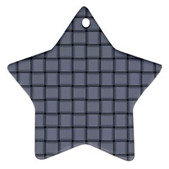 Cool Gray Weave Star Ornament by BestCustomGiftsForYou