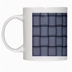 Cool Gray Weave White Coffee Mug