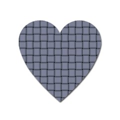 Cool Gray Weave Magnet (heart) by BestCustomGiftsForYou