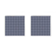 Cool Gray Weave Cufflinks (square) by BestCustomGiftsForYou