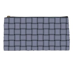 Cool Gray Weave Pencil Case by BestCustomGiftsForYou