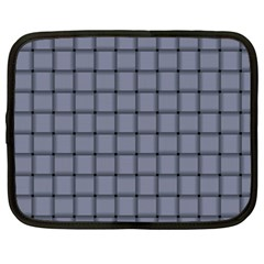 Cool Gray Weave Netbook Case (xxl) by BestCustomGiftsForYou